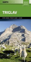 Mount Triglav Pocket Guide Map by Kartografija