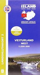 West Iceland, Regional Map 2 - 1:200,000 by Mal og menning