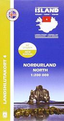 Northern Iceland, Regional Map 4 - 1:200,000 by Mal og menning
