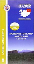 North East Iceland, Regional Map 5 - 1:200,000 by Mal og menning