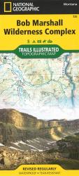 Bob Marshall Wilderness Complex Topographic Map by National Geographic Maps