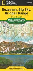 Bozeman, Big Sky, Bridger Range Topographic Map by National Geographic Maps
