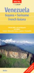 Venezuela, Guyana, Suriname and French Guiana by Nelles Verlag GmbH