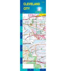Cleveland, Ohio, Pearl Map, laminated by GM Johnson