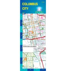 Columbus, Ohio, Pearl Map, laminated by GM Johnson