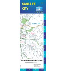 Santa Fe, New Mexico, Pearl Map, laminated by GM Johnson