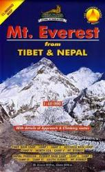 Mt. Everest Climbing Map : From Tibet & Nepal by Himalayan MapHouse Pvt. Ltd