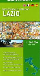 Lazio, Road Map by Libreria Geografica
