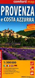Provence and Cote d'Azur, Laminated Road Map by Libreria Geografica