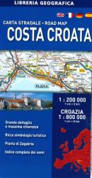Croatian Coast, Road Map by Libreria Geografica