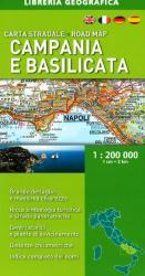 Campania and Basilicata, Road Map by Libreria Geografica