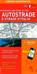 Italy, Motorway and Road Map by Libreria Geografica