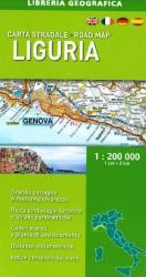 Liguria, Italy, Road Map by Libreria Geografica