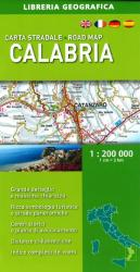 Calabria, Italy, Road Map by Libreria Geografica
