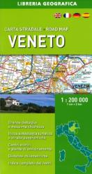 Veneto, Italy, Road Map by Libreria Geografica
