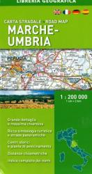 Marche-Umbria, Italy, Road Map by Libreria Geografica