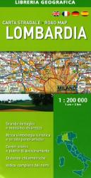 Lombardia, Italy, Road Map by Libreria Geografica