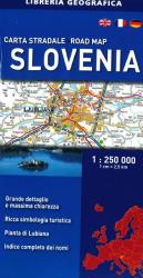 Slovenia, Road Map by Libreria Geografica