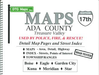 Ada County, Idaho and Treasure Valley, Atlas by DTG Maps