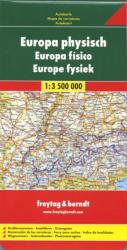 Europe, physical by Freytag, Berndt und Artaria