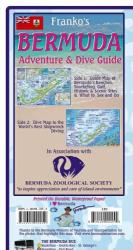 Bermuda Map, Bermuda Guide and Dive, folded, 2011 by Frankos Maps Ltd.