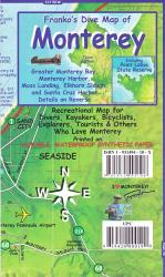 California Map, Monterey Bay Guide and Dive, laminated, 2011 by Frankos Maps Ltd.