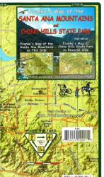California Map, Santa Ana Mtns/Chino Hills Trails, folded, 2009 by Frankos Maps Ltd.