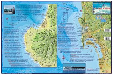 California Map, San Diego Surfing, laminated, 2007 by Frankos Maps Ltd.