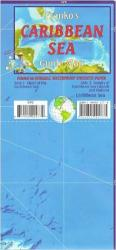 Caribbean Map, Caribbean Sea Guide, folded, 2011 by Frankos Maps Ltd.