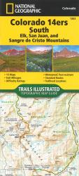 Colorado 14ers South, Map 1303 by National Geographic Maps