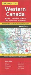 Western Canada Map by Canadian Cartographics Corporation