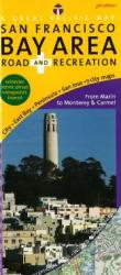 San Francisco Bay Area, Road and Recreation by Great Pacific Recreation & Travel Maps