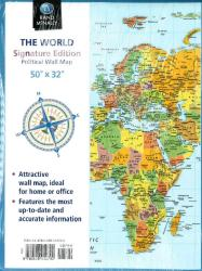 World, Folded Wall Political Map, Signature Ed by Rand McNally