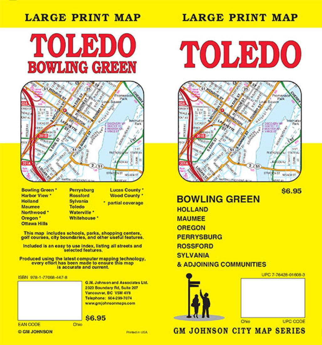Rossford Ohio Map.Toledo And Bowling Green Ohio Large Print By Gm Johnson