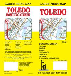 Toledo and Bowling Green, Ohio, large print by GM Johnson