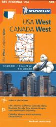 USA, Western and Canada, Western (585) by Michelin Maps and Guides