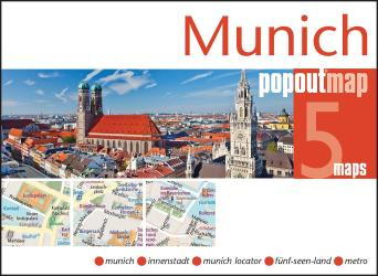 Munich, Germany, PopOut Map by PopOut Products