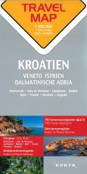 Croatia Travel Map by Kunth Verlag