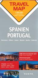Spain and Portugal Travel Map by Kunth Verlag