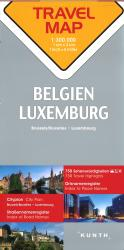 Belgium and Luxembourg Travel Map by Kunth Verlag