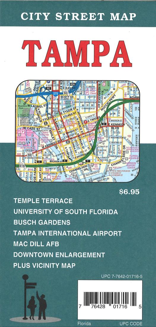 Tampa, Florida City Street Map by GM Johnson on