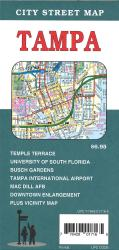 Tampa, Florida City Street Map by GM Johnson
