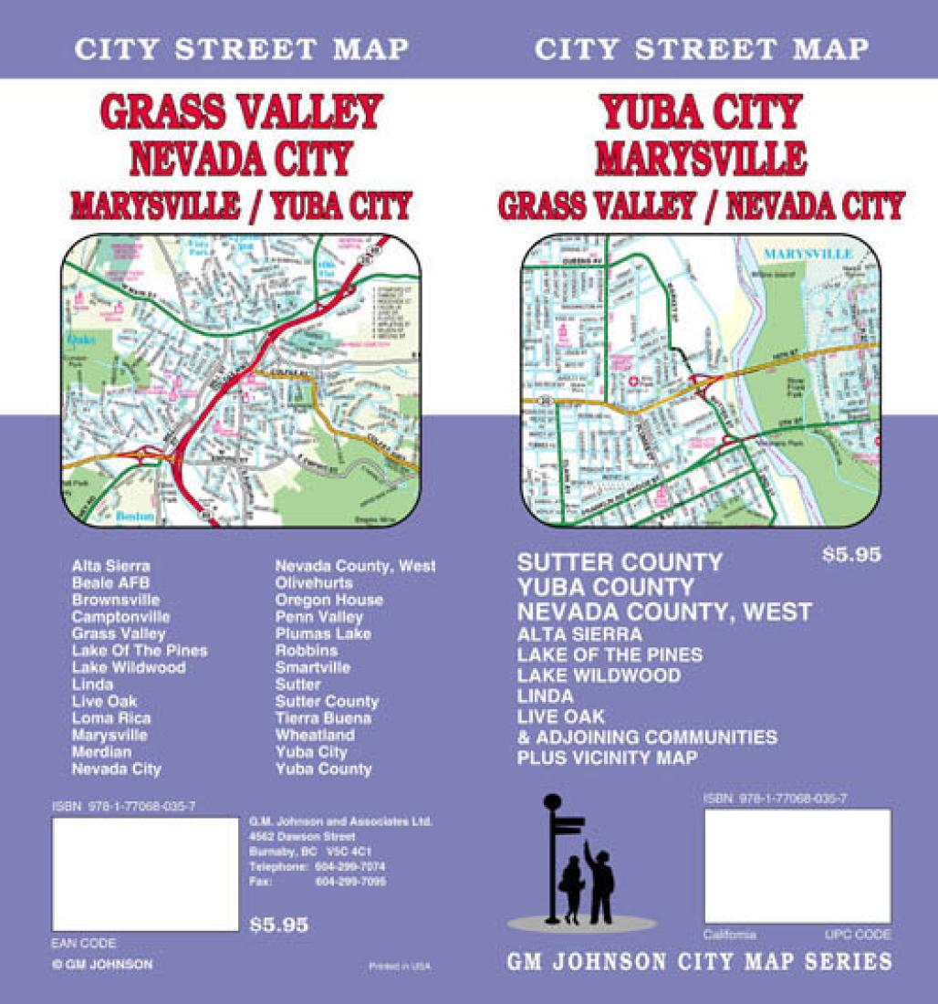 Yuba City, Marysville, Grass Valley and Nevada City, California by GM ...