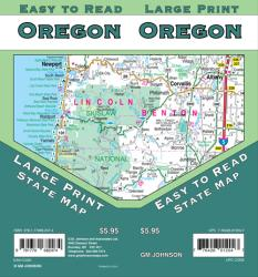 Oregon, large print by GM Johnson