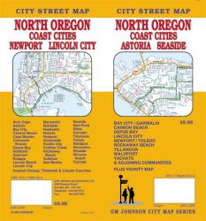 Oregon, North with Coast Cities, Astoria and Seaside by GM Johnson