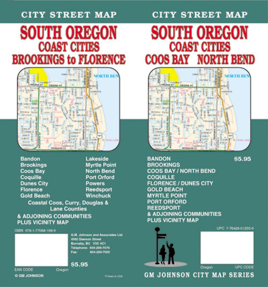 Oregon South With Coast Cities Coos Bay And North Bend By Gm