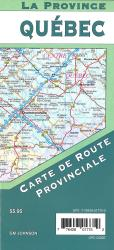 Quebec Provincial Road Map by GM Johnson