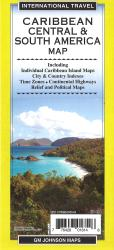 Caribbean Central & South America Map by GM Johnson