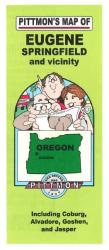 Eugene and Springfield, Oregon Vicinity by Pittmon Map Company