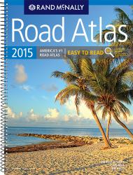 United States, Canada and Mexico, 2015 Midsize Deluxe Easy to Read Road Atlas by Rand McNally